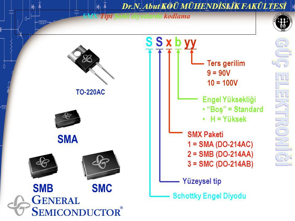SMX Tipi Şotki diyotlarda kodlama
