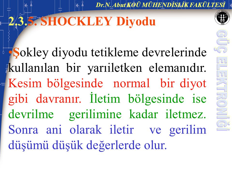 2.3.5. SHOCKLEY Diyodu