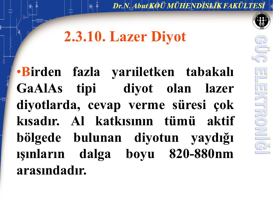 2.3.10. Lazer Diyot