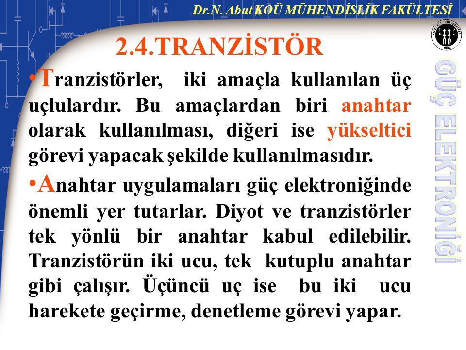 2.4.TRANZİSTÖR