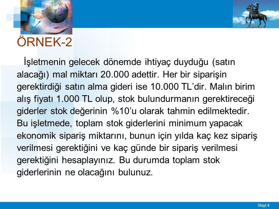 ÖRNEK-2 ESM = √2TG / DS ESM = √2x20000x10000 / 1000x0.1