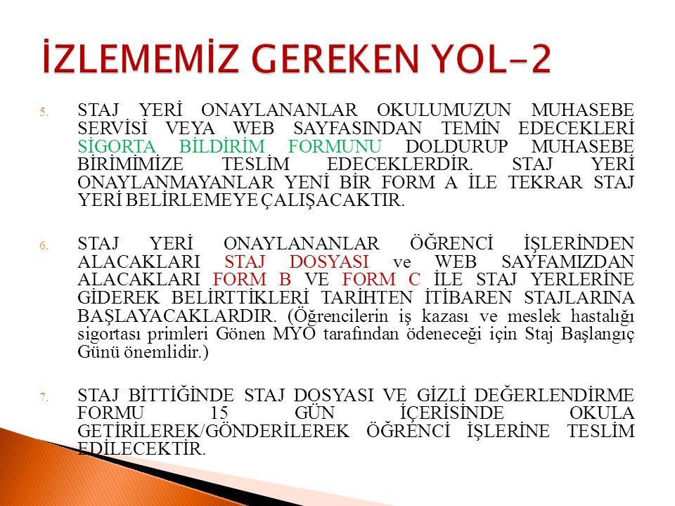 İZLEMEMİZ GEREKEN YOL-2