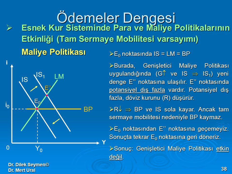 Ödemeler Dengesi Esnek Kur Sisteminde Para ve Maliye Politikalarının Etkinliği (Tam Sermaye Mobilitesi varsayımı)
