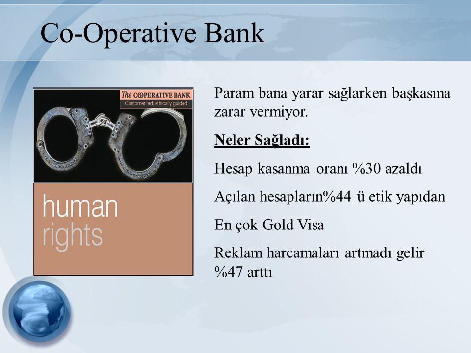 Co-Operative Bank Param bana yarar sağlarken başkasına zarar vermiyor.