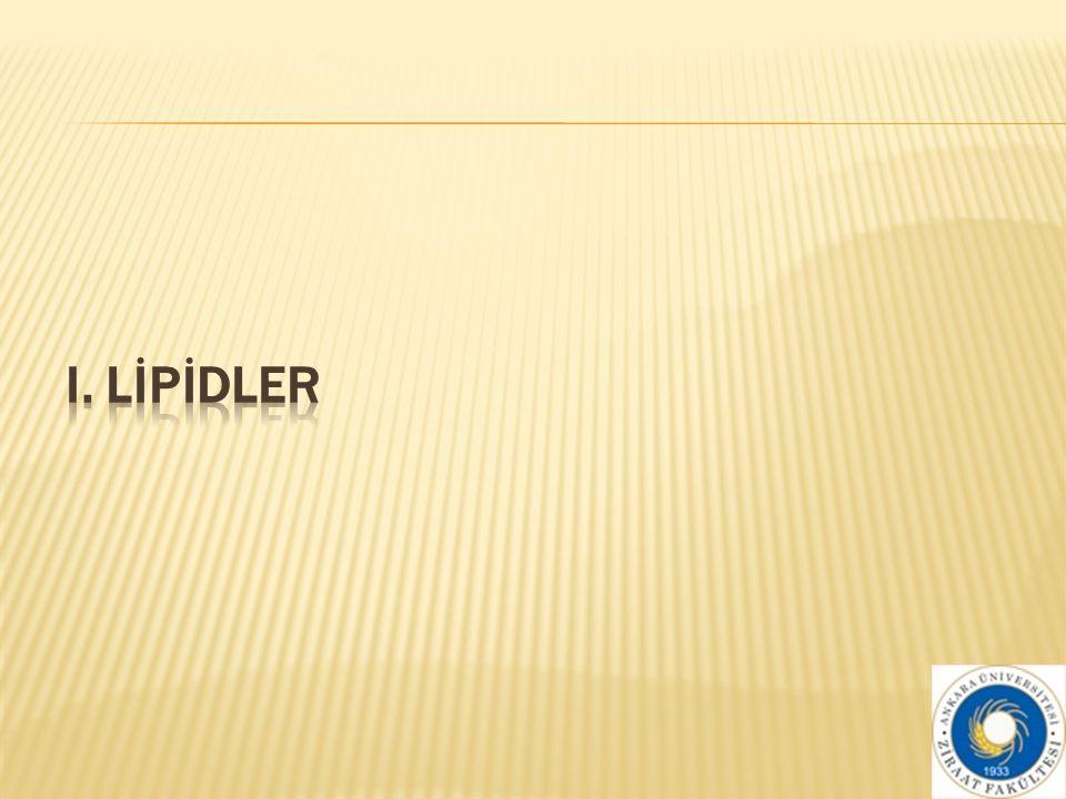 I. LİPİDLER