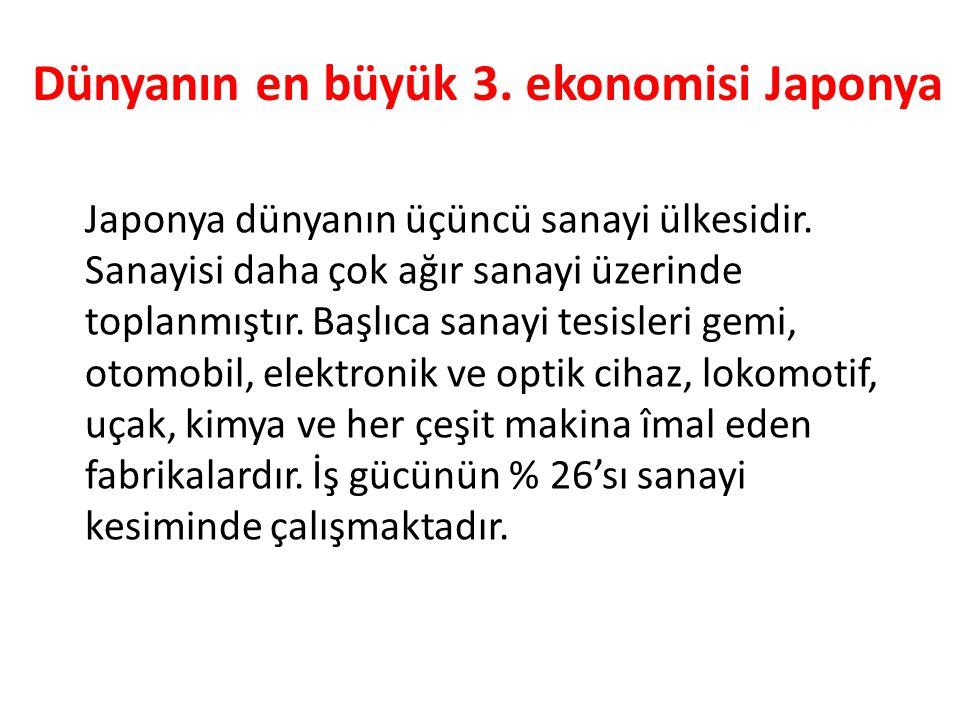 Dünyanın en büyük 3. ekonomisi Japonya