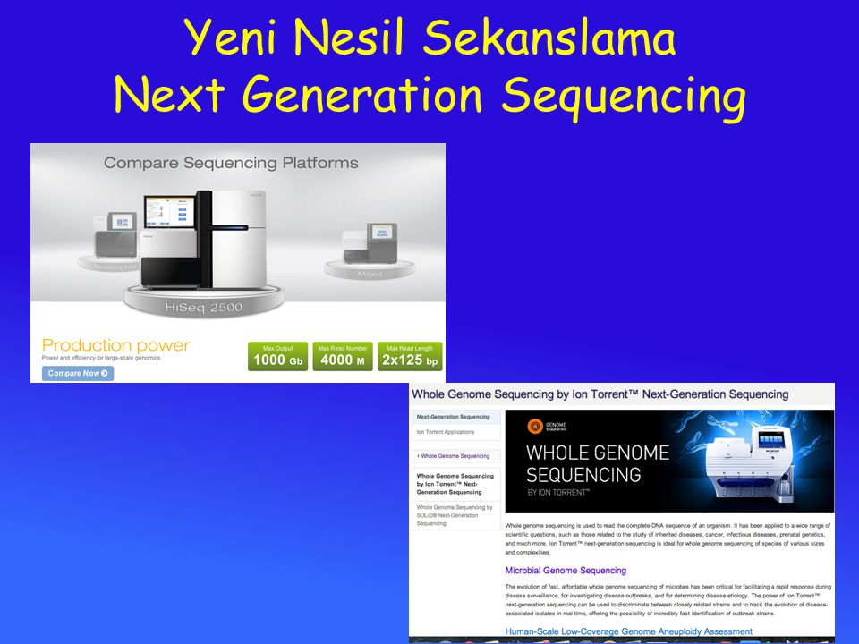 Yeni Nesil Sekanslama Next Generation Sequencing