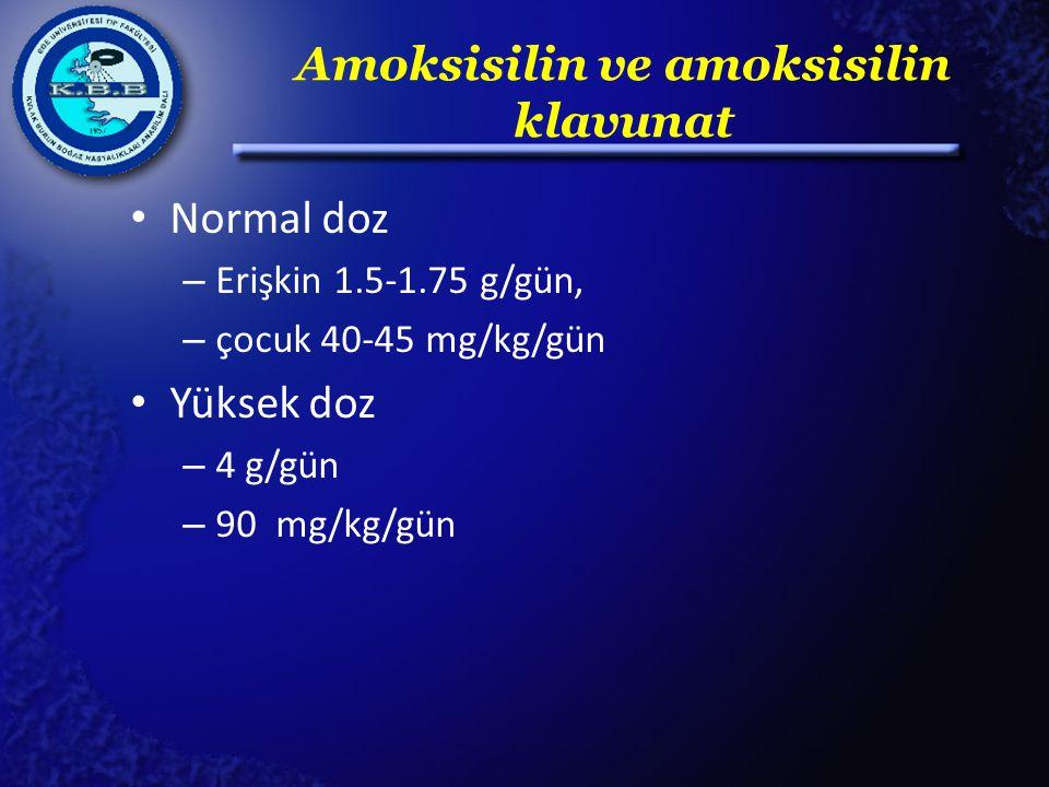 Amoksisilin ve amoksisilin klavunat