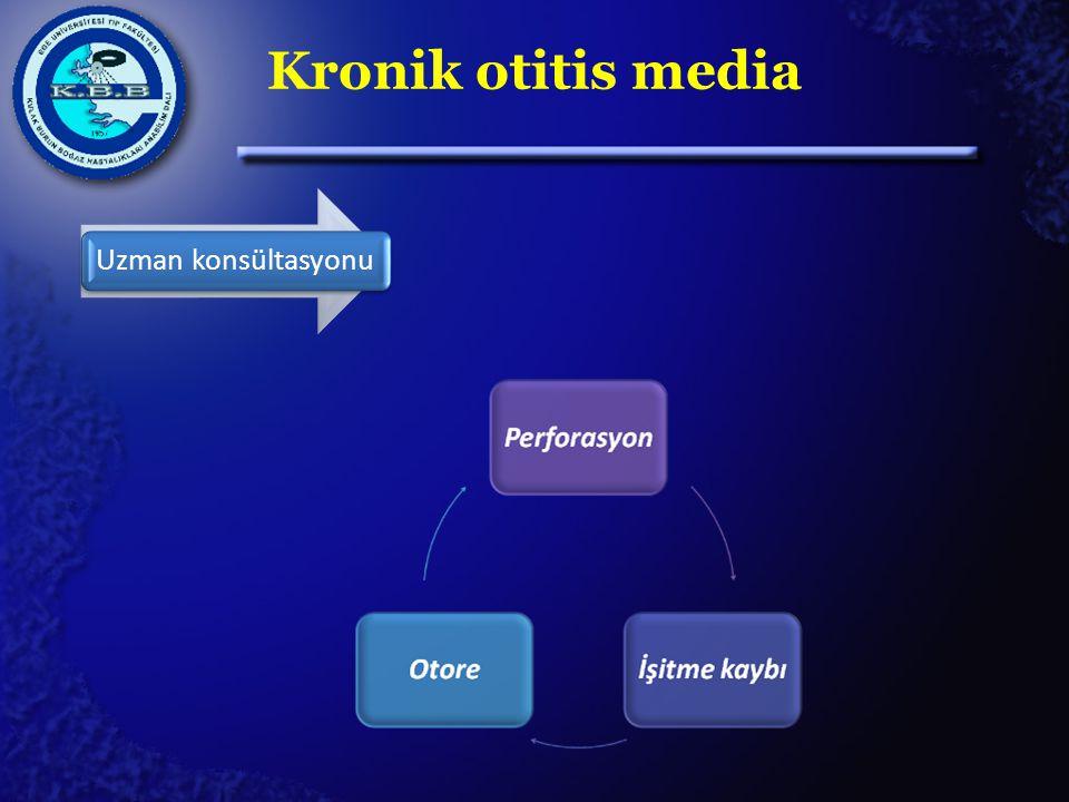 Kronik otitis media Uzman konsültasyonu