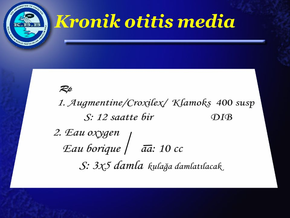 Kronik otitis media