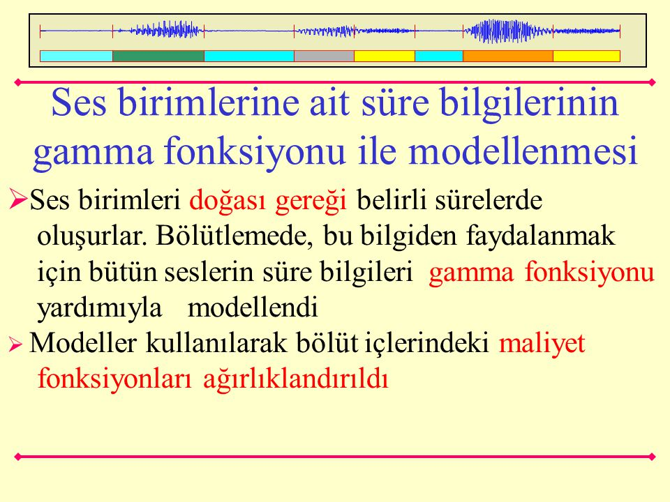 Ses birimlerine ait süre bilgilerinin gamma fonksiyonu ile modellenmesi