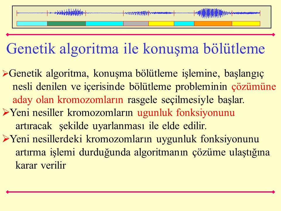 Genetik algoritma ile konuşma bölütleme