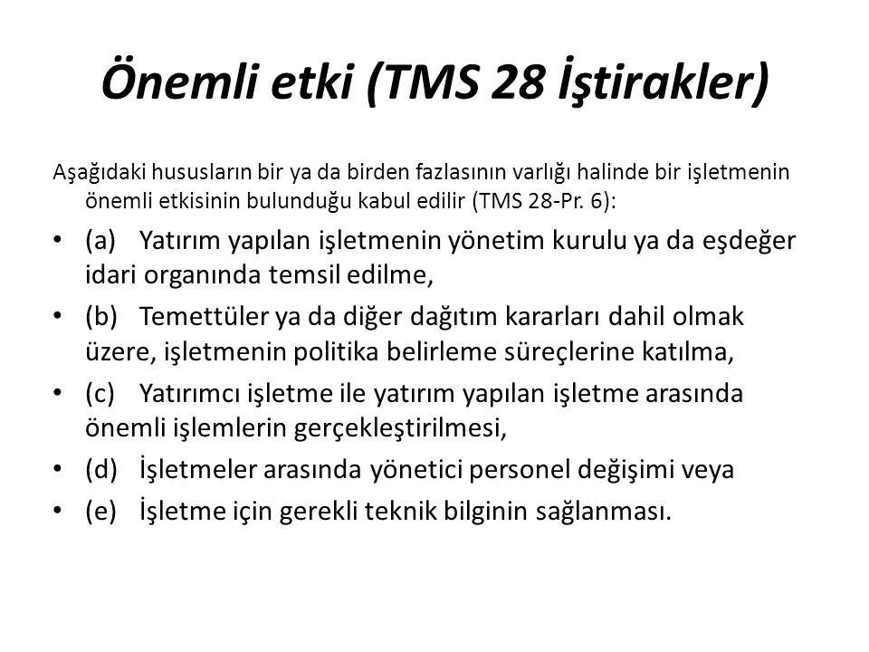 Önemli etki (TMS 28 İştirakler)