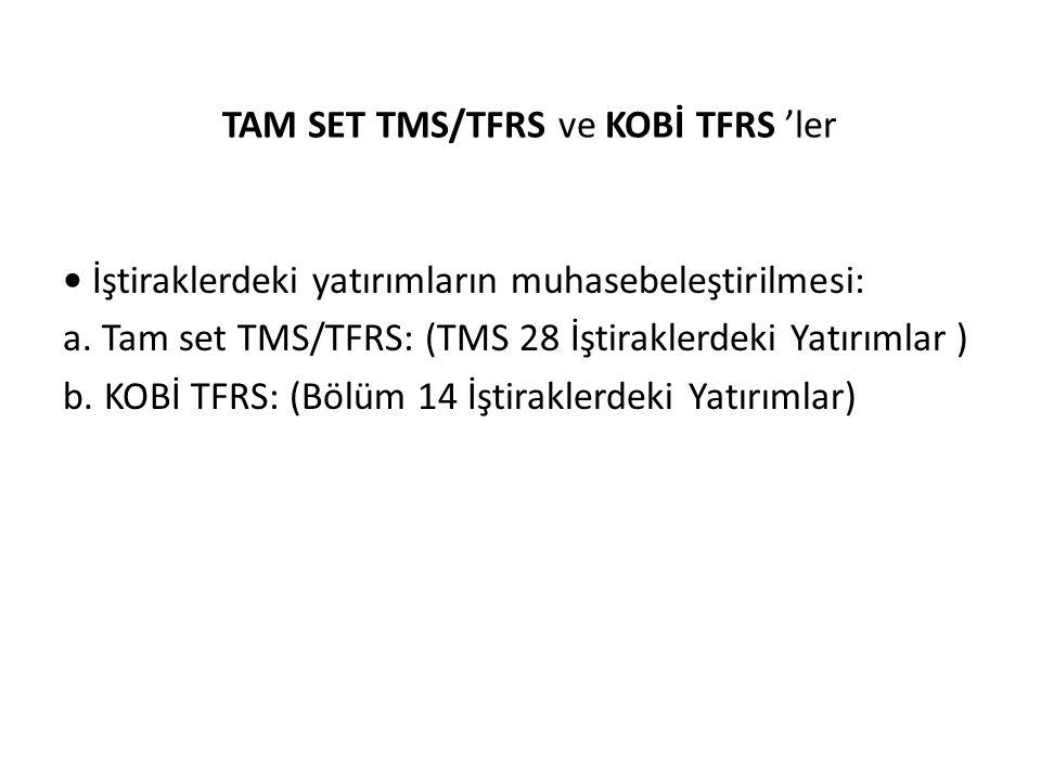 TAM SET TMS/TFRS ve KOBİ TFRS 'ler