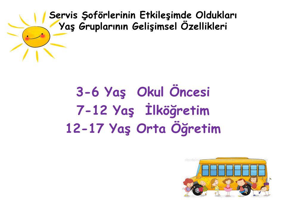 3-6 Yaş Okul Öncesi 7-12 Yaş İlköğretim 12-17 Yaş Orta Öğretim