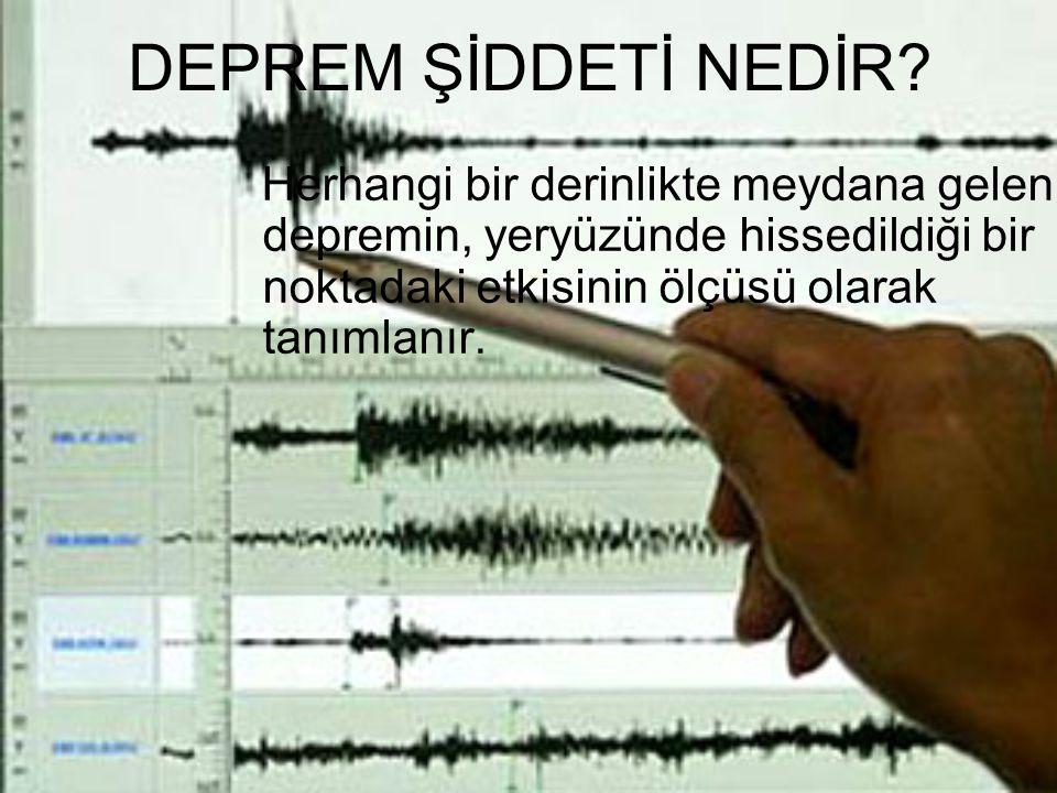 DEPREM ŞİDDETİ NEDİR.