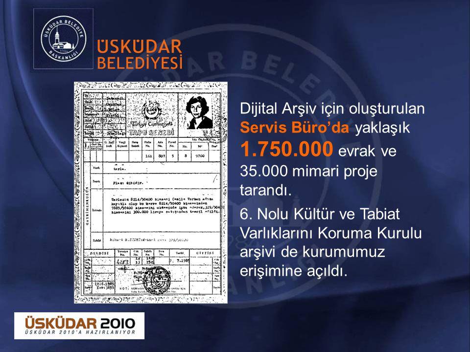 Dijital Arşiv için oluşturulan Servis Büro'da yaklaşık 1. 750
