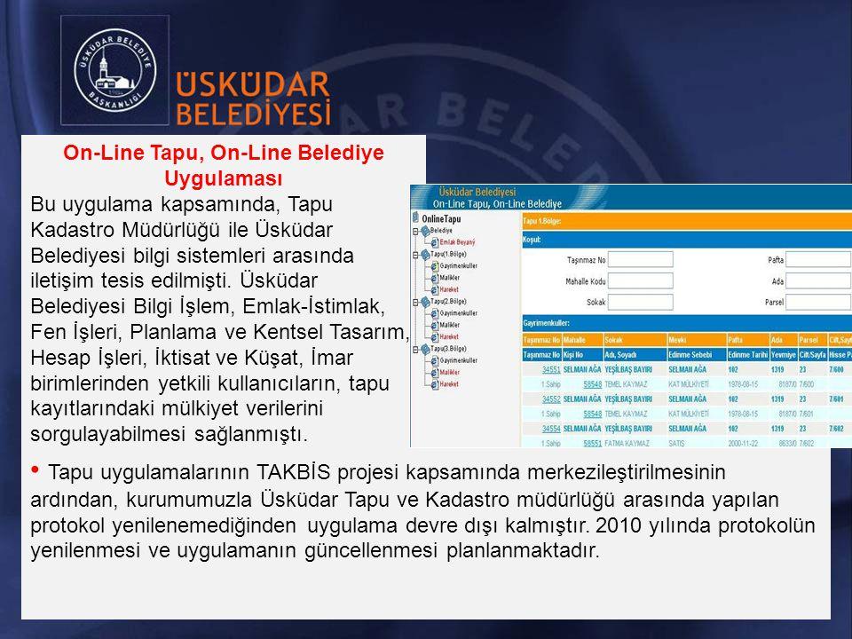 On-Line Tapu, On-Line Belediye Uygulaması