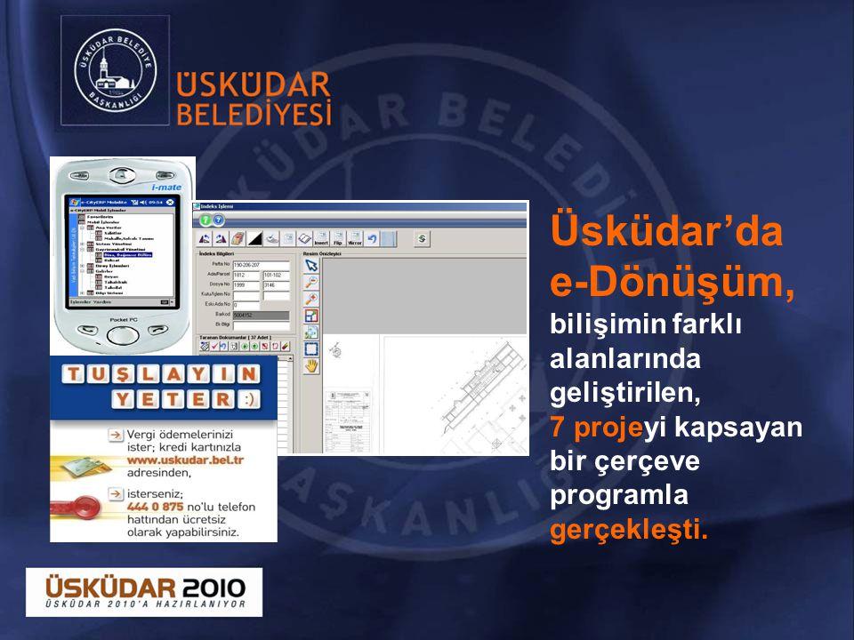 Üsküdar'da e-Dönüşüm, bilişimin farklı alanlarında geliştirilen,