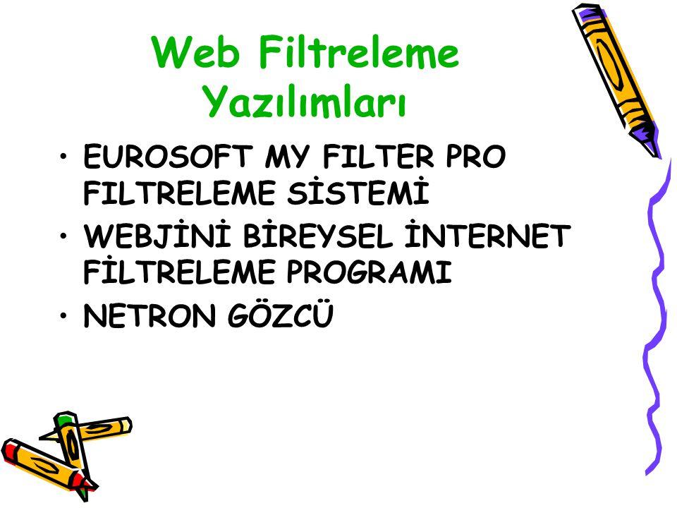 Web Filtreleme Yazılımları