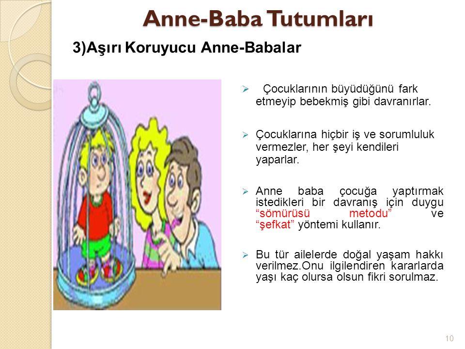 Anne-Baba Tutumları 3)Aşırı Koruyucu Anne-Babalar