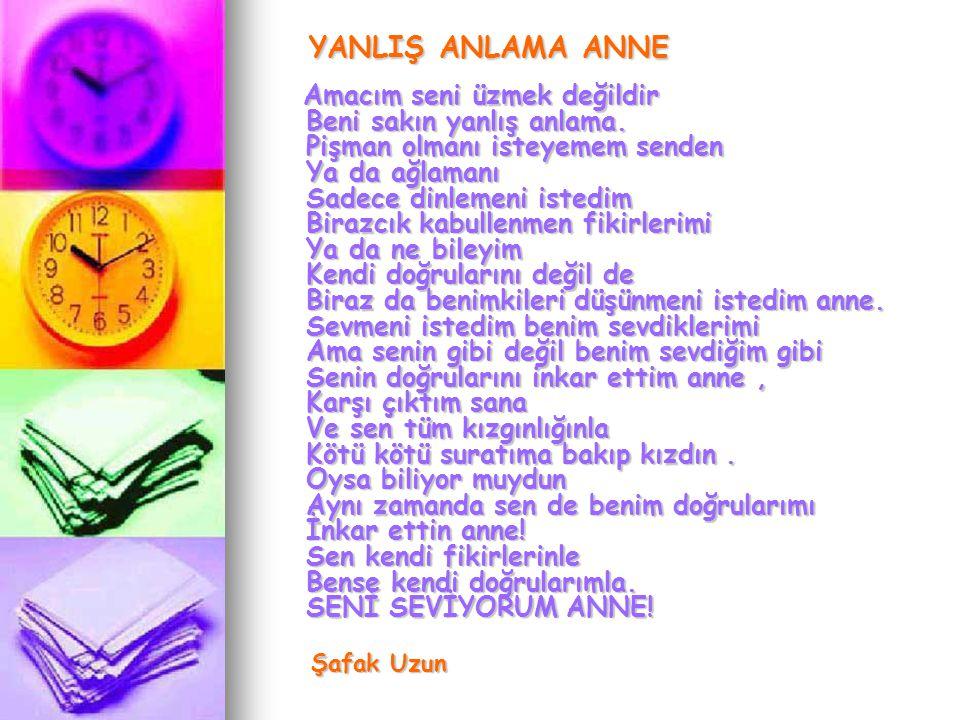 YANLIŞ ANLAMA ANNE Şafak Uzun