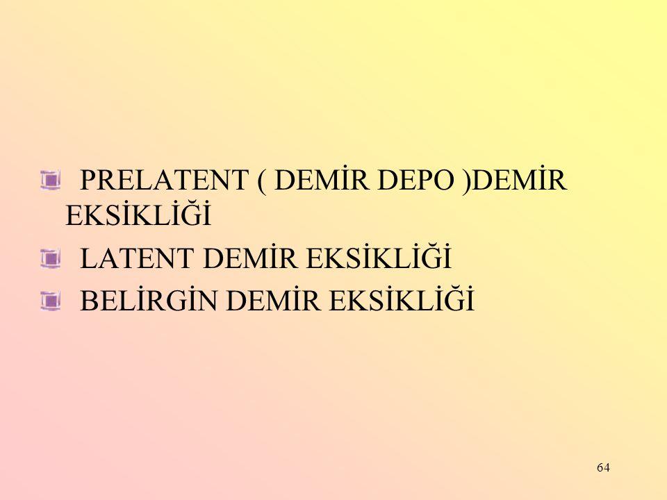 PRELATENT ( DEMİR DEPO )DEMİR EKSİKLİĞİ