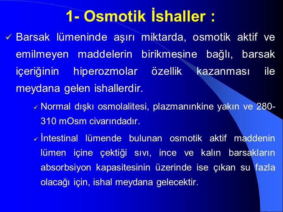 1- Osmotik İshaller :