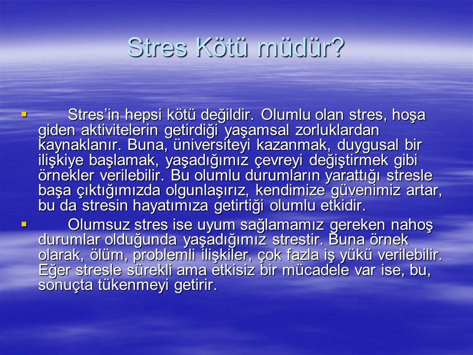 Stres Kötü müdür