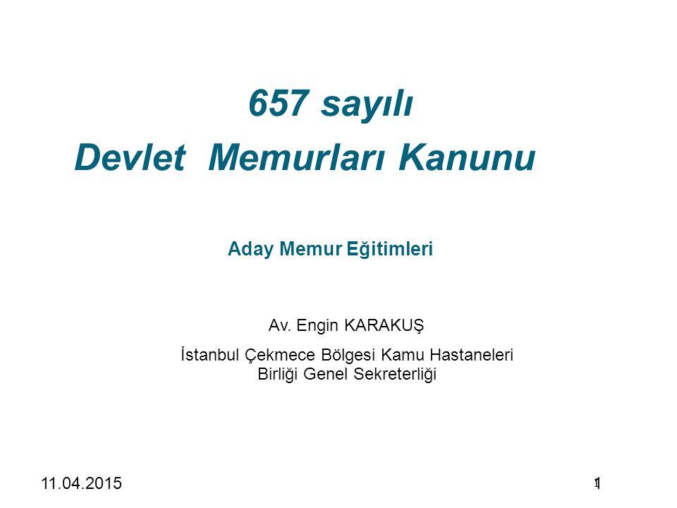 657 sayılı Devlet Memurları Kanunu Aday Memur Eğitimleri