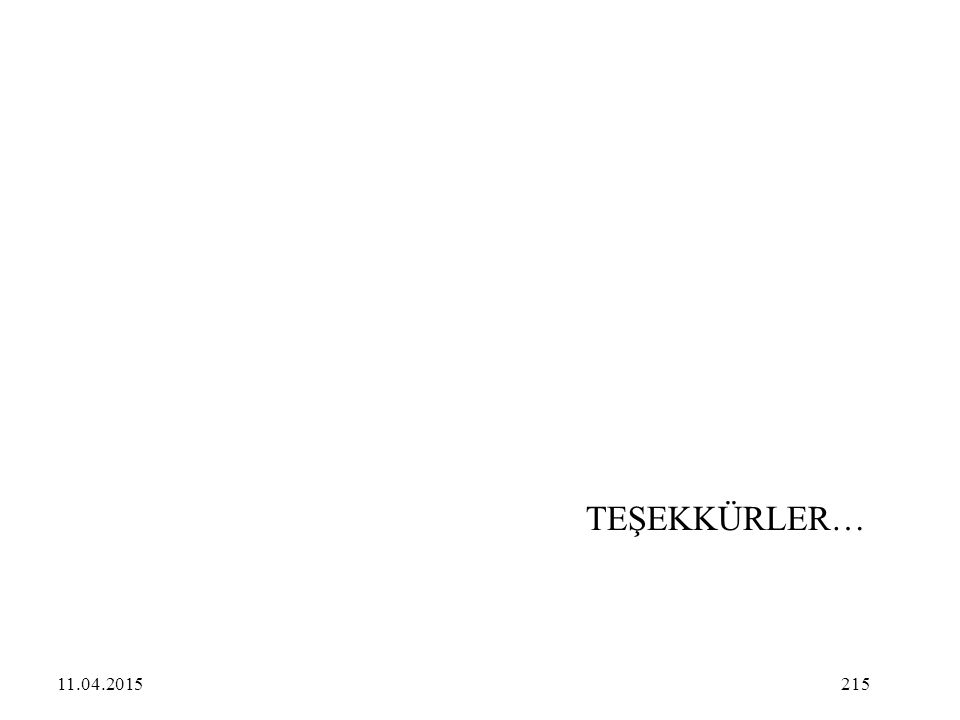 TEŞEKKÜRLER… 11.04.2017