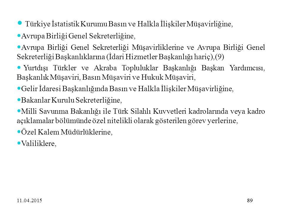 Türkiye İstatistik Kurumu Basın ve Halkla İlişkiler Müşavirliğine,