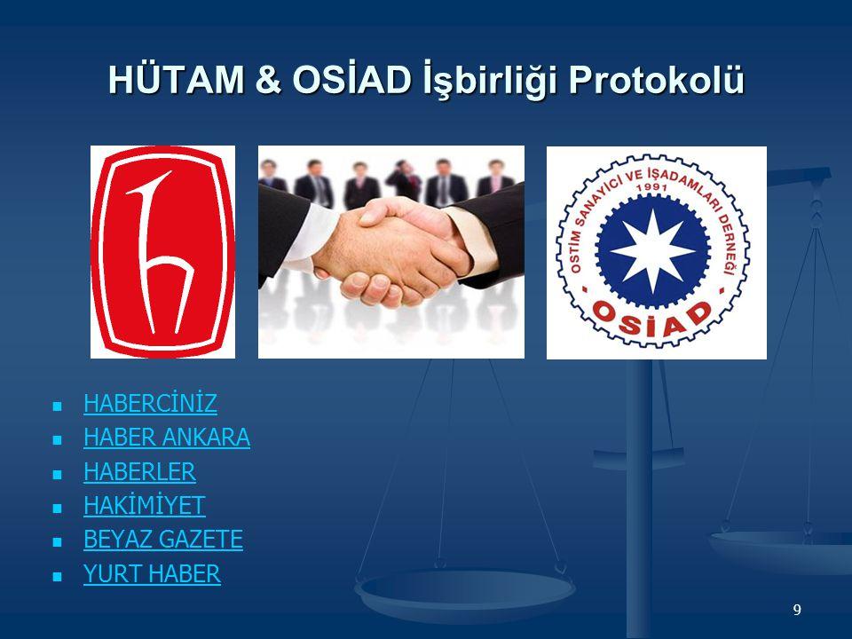 HÜTAM & OSİAD İşbirliği Protokolü
