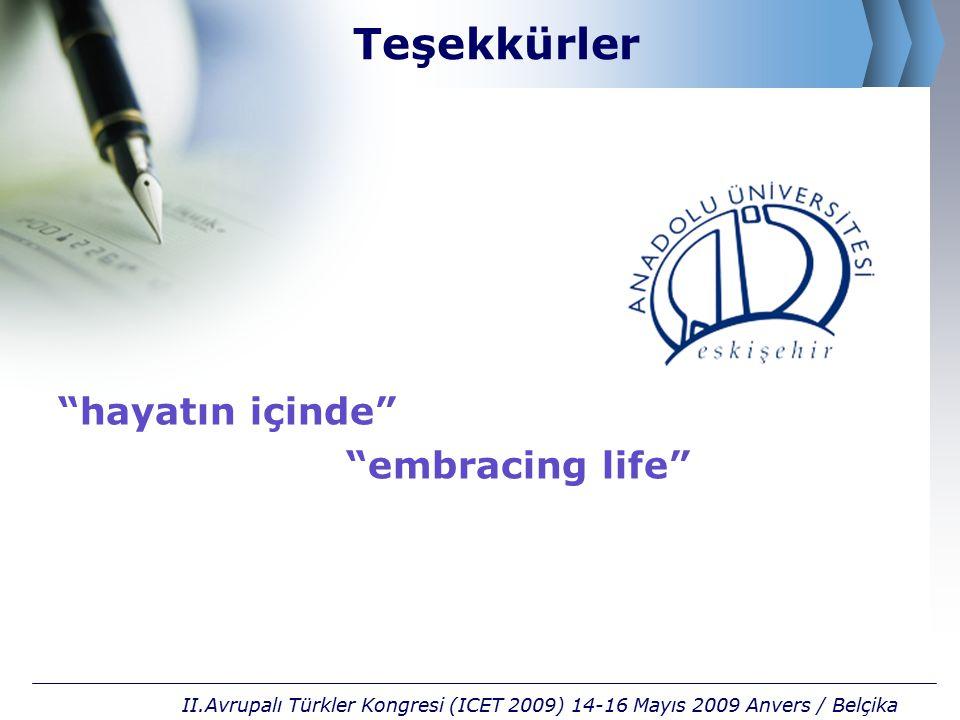 Teşekkürler hayatın içinde embracing life