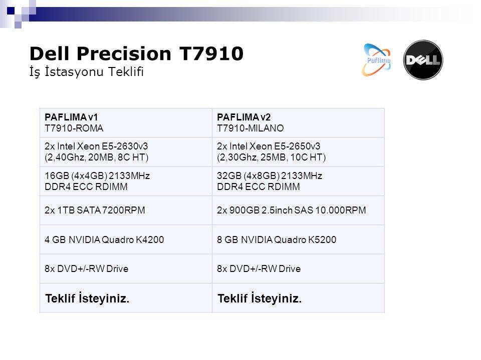 Dell Precision T7910 İş İstasyonu Teklifi