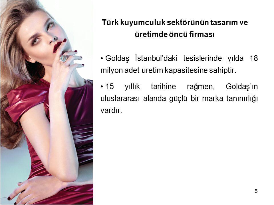 Türk kuyumculuk sektörünün tasarım ve üretimde öncü firması