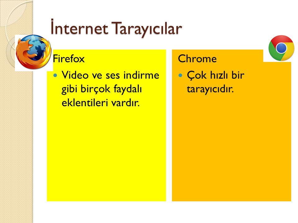 İnternet Tarayıcılar Firefox
