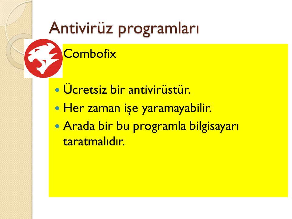 Antivirüz programları
