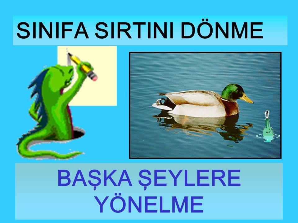 SINIFA SIRTINI DÖNME BAŞKA ŞEYLERE YÖNELME
