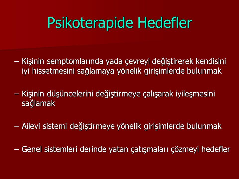Psikoterapide Hedefler