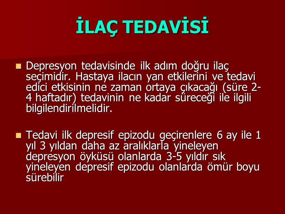 İLAÇ TEDAVİSİ