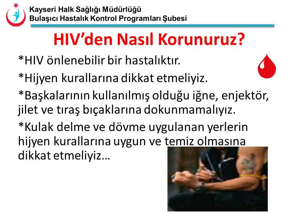 HIV'den Nasıl Korunuruz