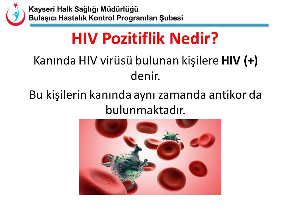 HIV Pozitiflik Nedir. Kanında HIV virüsü bulunan kişilere HIV (+) denir.