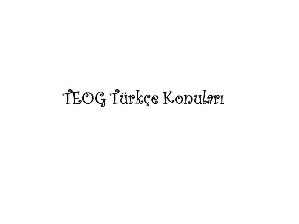 TEOG Türkçe Konuları
