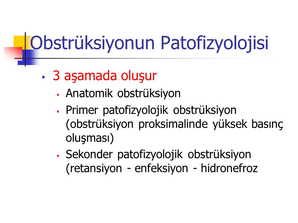 Obstrüksiyonun Patofizyolojisi