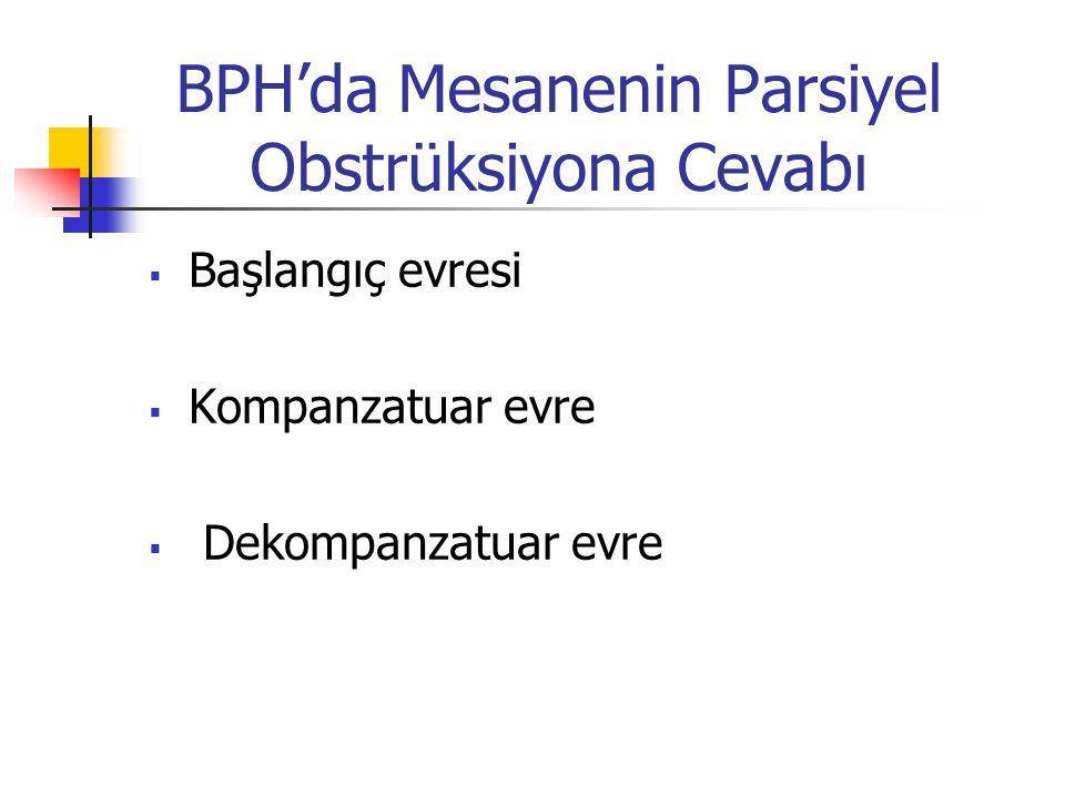 BPH'da Mesanenin Parsiyel Obstrüksiyona Cevabı