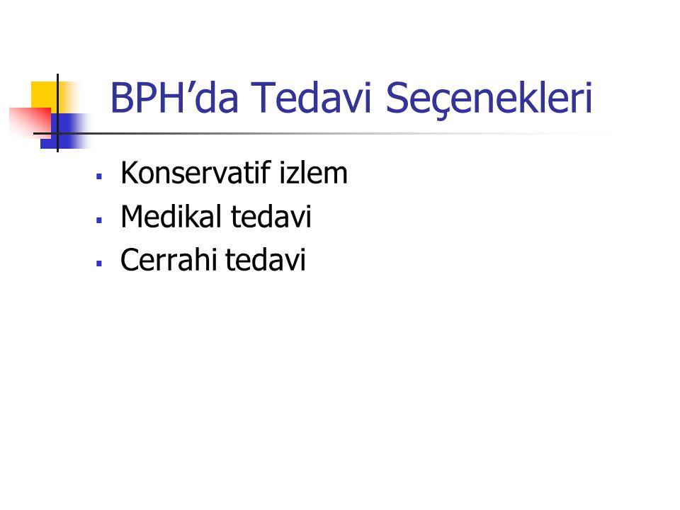 BPH'da Tedavi Seçenekleri