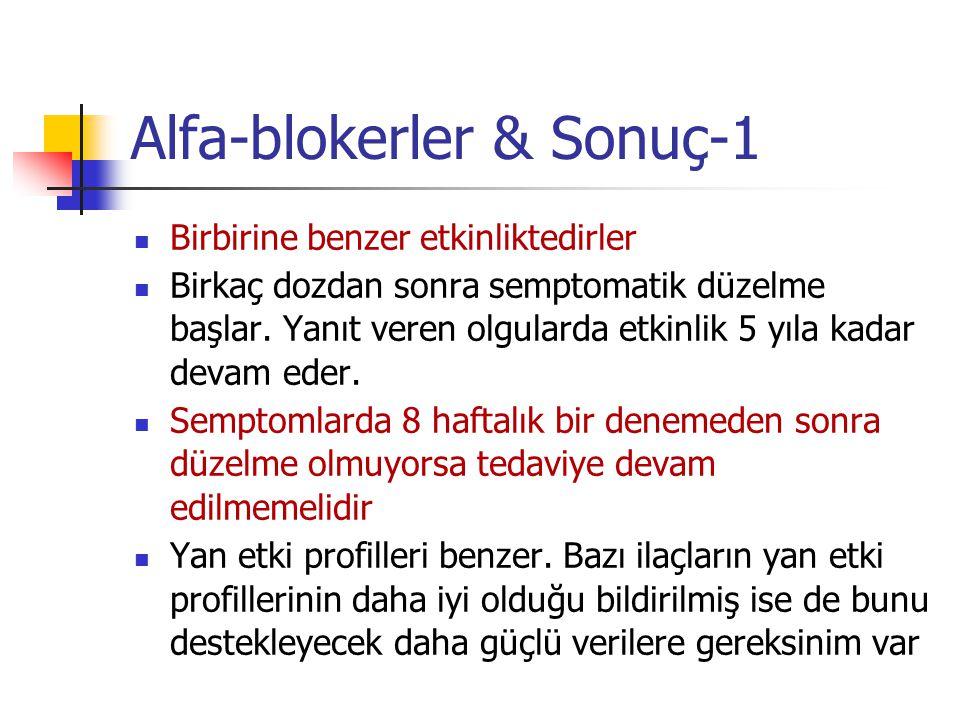 Alfa-blokerler & Sonuç-1