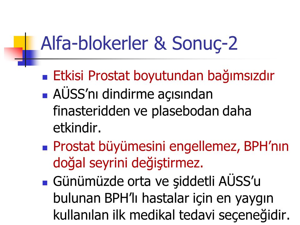 Alfa-blokerler & Sonuç-2