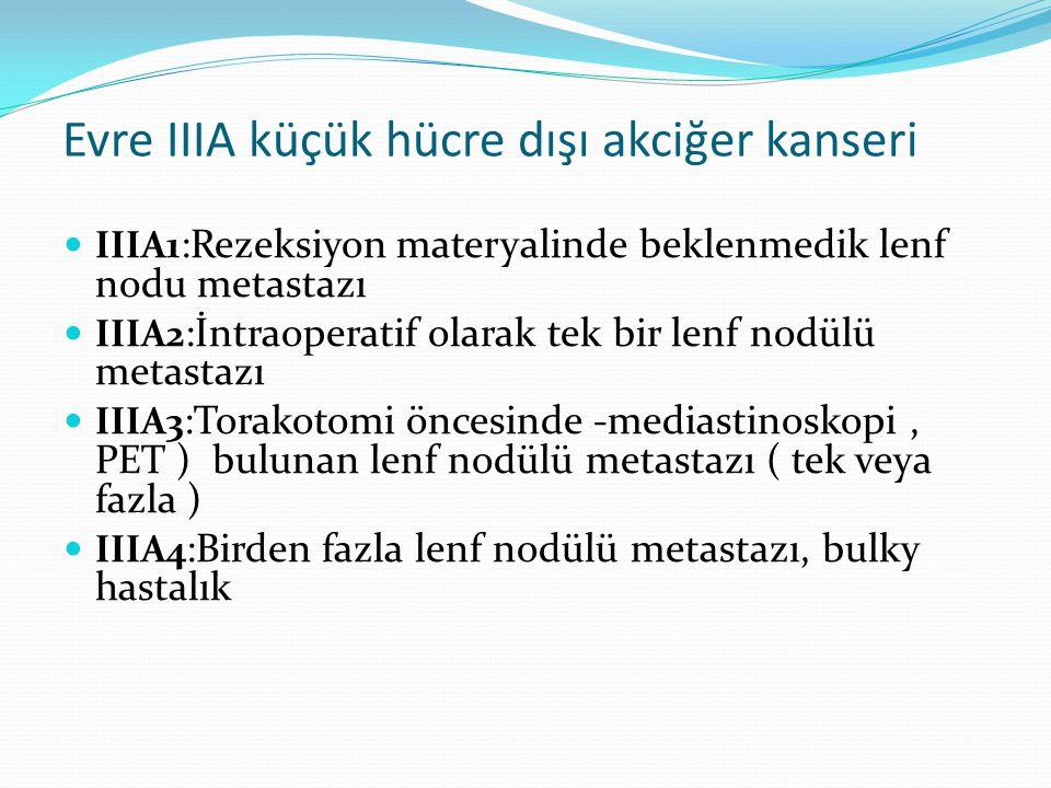 Evre IIIA küçük hücre dışı akciğer kanseri